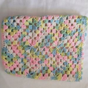 Hand Crocheted Baby Blanket Afghan Pillow Case Cov
